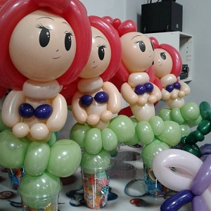 Arial Princess Balloon