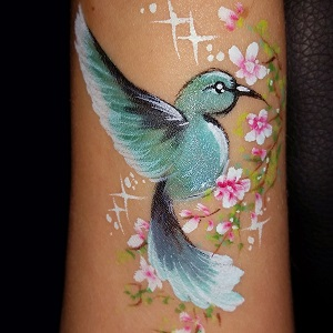 Arm Bird Face Painting