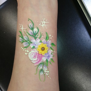 Arm Daisy Flower Face Painting