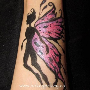 Arm Fairy Design Face Painting
