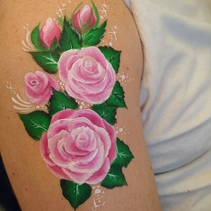 Arm Roses Face Painting