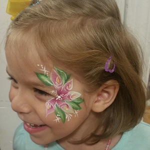 Cheek Painting Flowers
