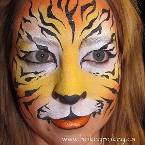 Fancy Tiger Face Painting