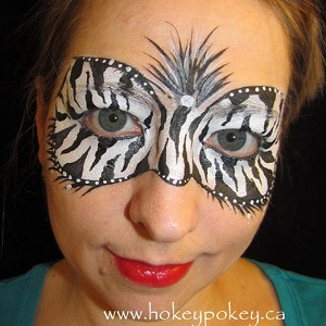 Zebra Mask Face Painting