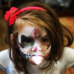 Cute Skull Face Painting