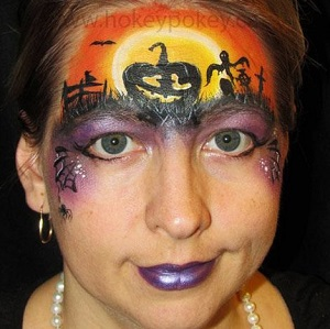 Halloween Pumpkin Face Painting