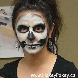 Halloween Skull Face Painting